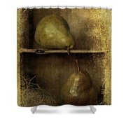 Pears Shower Curtain by Priska Wettstein