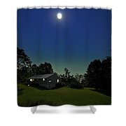 Pegasus and Moon Shower Curtain by Greg Reed