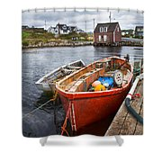 Peggy's Cove 19 Shower Curtain by Betsy C  Knapp