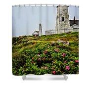 Pemaquid Point Shower Curtain by Karol Livote