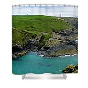 Pendeen Watch to Levant Shower Curtain by Terri  Waters