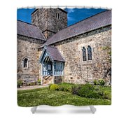 Penmon Priory Shower Curtain by Adrian Evans