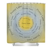 Penny Lane 2 Shower Curtain by Andee Design