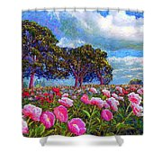 Peony Heaven Shower Curtain by Jane Small
