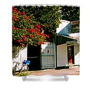 Pepes In Key West Florida Shower Curtain by Susanne Van Hulst