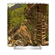 Perched On The Edge Shower Curtain by Adam Jewell