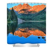 Perfect Reflections At The Bells Shower Curtain by Adam Jewell