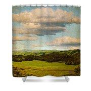 Perfect Valley Shower Curtain by Brett Pfister