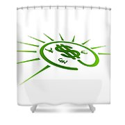 Perspective Currency Shower Curtain by Aged Pixel