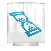 Perspective Hour Glass Shower Curtain by Aged Pixel