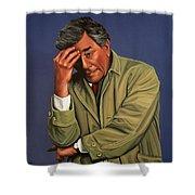 Peter Falk as Columbo Shower Curtain by Paul Meijering