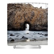 Pfeiffer Beach Arch Shower Curtain by Jenna Szerlag