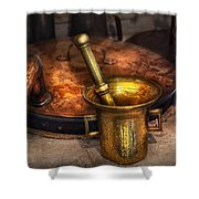 Pharmacist - Making Magic Shower Curtain by Mike Savad