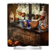 Pharmacist - Medicinal Equipment  Shower Curtain by Mike Savad