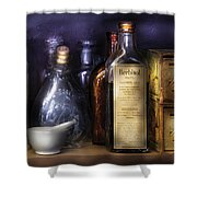 Pharmacy - Constipated  Shower Curtain by Mike Savad