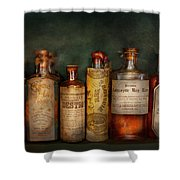 Pharmacy - Daily Remedies  Shower Curtain by Mike Savad