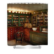 Pharmacy - Patent Medicine  Shower Curtain by Mike Savad
