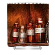 Pharmacy - Pharmacist's Fancy Fluids Shower Curtain by Mike Savad