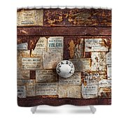 Pharmacy - Signs of the time  Shower Curtain by Mike Savad