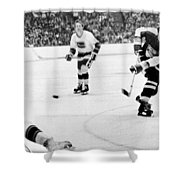 Phil Esposito In Action Shower Curtain by Gianfranco Weiss