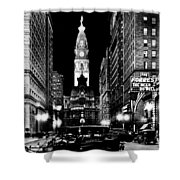 Philadelphia City Hall 1916 Shower Curtain by Benjamin Yeager