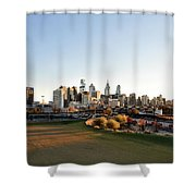 Philadelphia From South Street Shower Curtain by Bill Cannon