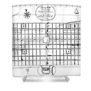 Philadelphia: Map, 1683 Shower Curtain by Granger