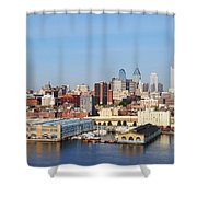 Philadelphia River View Shower Curtain by Bill Cannon