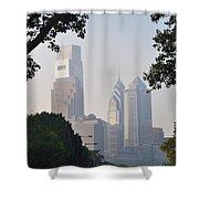 Philadelphia's Skyscrapers Shower Curtain by Bill Cannon