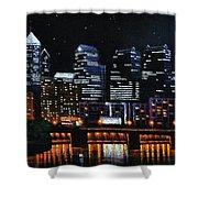 Phillie Shower Curtain by Thomas Kolendra