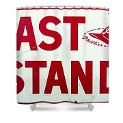 Phillies East Stand Sign - Connie Mack Stadium Shower Curtain by Bill Cannon