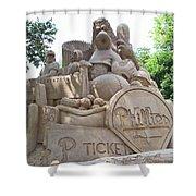 Phillies Sandsculpture Shower Curtain by Barbara McDevitt