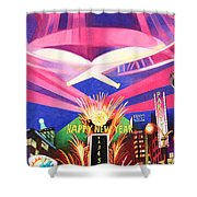 Phish New Years In New York Middle Shower Curtain by Joshua Morton