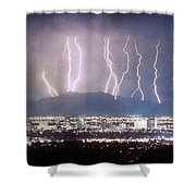 Phoenix Arizona City Lightning And Lights Shower Curtain by James BO  Insogna