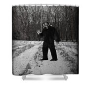 Photographic Evidence Of Big Foot Shower Curtain by Edward Fielding