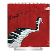 Piano Fun - S01at01 Shower Curtain by Variance Collections