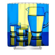 Pichet Et Verres Shower Curtain by Nikolyn McDonald