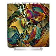 Picked Up By The Wind Shower Curtain by Klara Acel