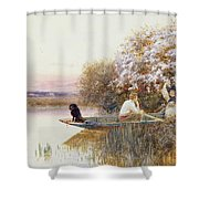 Picking Blossoms Shower Curtain by Thomas James Lloyd