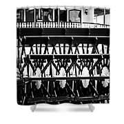 Picture Of Natchez Steamboat Paddle Wheel In New Orleans Shower Curtain by Paul Velgos
