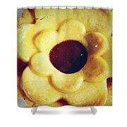 Pie Shower Curtain by Les Cunliffe
