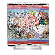 Pieces Of April Shower Curtain by Simon Wolter