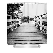 Pier At Kinderdjik Shower Curtain by Ivy Ho