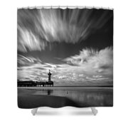 Pier End Shower Curtain by Dave Bowman
