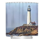 Pigeon Point Shower Curtain by Heidi Smith