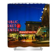 Pike Place Market Shower Curtain by Inge Johnsson