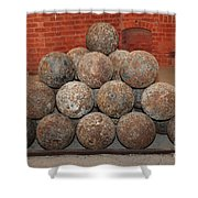 Pile Of Cannon At San Francisco Fort Point 5d21493 Shower Curtain by Wingsdomain Art and Photography