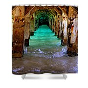 Pillars Of Time Shower Curtain by Karen Wiles