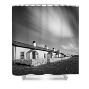 Pilot Cottages Shower Curtain by Dave Bowman