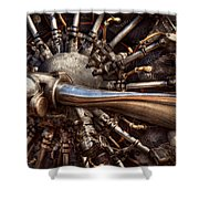 Pilot - Plane - Engines At The Ready  Shower Curtain by Mike Savad